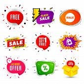 Free Symbol. Banner Badge, Flash Sale Bubble. Special Offer Sign. Sale. Last Minute Offer. Sticker B poster