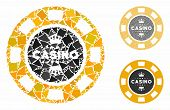 Royal Casino Chip Composition Of Unequal Elements In Various Sizes And Color Tints, Based On Royal C poster