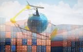 Containers Logistics Export Import Cargo Ship Air Carrier Trade Tariffs Customs Duty Tax Tariff Barr poster