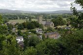 Church And Village Of Montgomery Wales