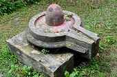 image of lingam  - Stone lingam in Hindu temples represents the sexual male creative energy of Shiva - JPG