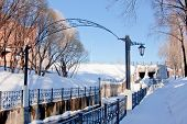 picture of perm  - channel in a winter park city Perm Russia - JPG