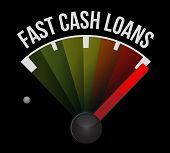pic of over counter  - fast cash loans speedometer illustration design graphic over a dark background - JPG