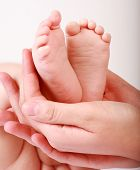 stock photo of baby feet  - Detail of newborn - JPG