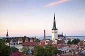 picture of olaf  - Panoramic View of Tallinn including St Olaf - JPG