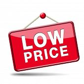 lowest price special offer bargain and sales discount icon label or sign
