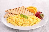 plate of scrambled egg