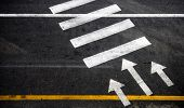picture of pedestrian crossing  - Pedestrian crossing with road marking - JPG