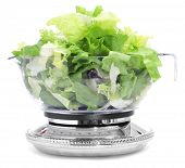 picture of escarole  - salad leaves in a scale - JPG