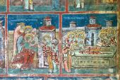 image of tomas  - Beautiful details of a fresco painting from Humor Monastery - JPG