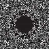 foto of kaleidoscope  - Lace background - JPG
