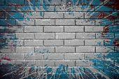 stock photo of stonewalled  - grunge brick wall - JPG