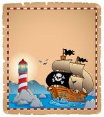 Pirate theme parchment 3 - eps10 vector illustration.