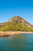 image of dalyan  - Turkey mountains near the river - JPG