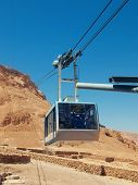 picture of masada  - funicular in fortress Masada Israel - JPG