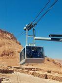 picture of masada  - funicular in fortress Masada Israel - JPG