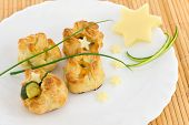 image of phyllo dough  - puff pastry appetizers ideal for buffet or snacks - JPG