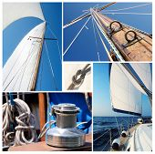 pic of mast  - Collage of sailing boat stuff  - JPG