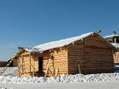 picture of olden days  - Construction of rural house - JPG