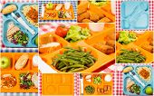 picture of loin cloth  - Tray of food for school a meals - JPG