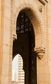 picture of british bombay  - A detail of the Gateway of India monument in Mumbai  - JPG