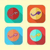 foto of virus scan  - Ebola virus icon set in various color - JPG