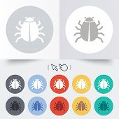 foto of disinfection  - Bug sign icon - JPG