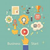 picture of hierarchy  - Business Startup Vector Illustration - JPG