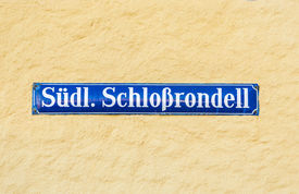 picture of munich residence  - Street sign Suedliches Schlossrondel  - JPG