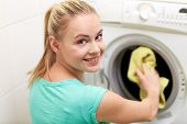 stock photo of laundry  - people - JPG