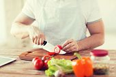 picture of cutting board  - cooking and home concept  - JPG