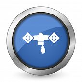image of hydraulics  - water icon hydraulics sign  - JPG
