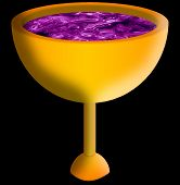 stock photo of communion-cup  - Gold cup of wine - JPG