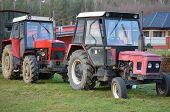 stock photo of bohemia  - old Czech Zetor tractors South Bohemia Czech Republic - JPG