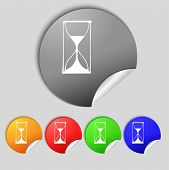foto of sand timer  - Hourglass sign icon - JPG