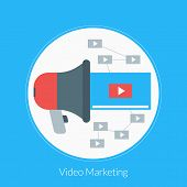 stock photo of promoter  - Flat design concept for Video Marketing - JPG