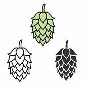stock photo of hop-plant  - Hop craft beer sign symbol label element - JPG