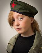 Teenage Ginger Girl In Revolution Barret Hat poster