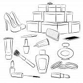 image of shoe-box  - Fashion accessories set - JPG