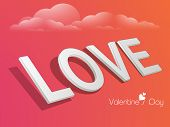 picture of corazon  - 3D text Love for Happy Valentine - JPG