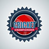 stock photo of cricket ball  - Badge - JPG