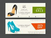 foto of lady boots  - Header for super sale of ladies footwear with name - JPG