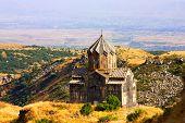 foto of armenia  - Vahramashen Church near Amberd fortress on the slopes of Mount Aragats in Armenia - JPG