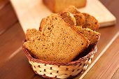 stock photo of home-made bread  - Square shaped home made bread made in baking machine - JPG