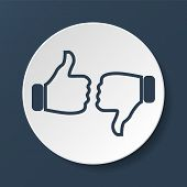 image of confirmation  - Thumb up icon flat design - JPG