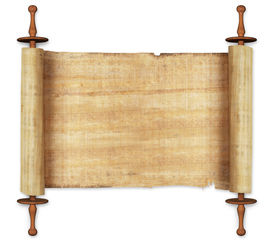 picture of scroll  - ancient scrolls - JPG