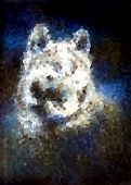 image of werewolf hunter  - Wolf head illustration - JPG