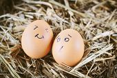 foto of morbid  - Painted eggs about emotion on the face - JPG