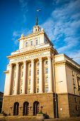 pic of neo-classic  - Party House in architectural ensemble of three Socialist Classicism edifices in central Sofia - JPG
