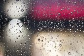 picture of raindrops  - raindrops on the glass - JPG